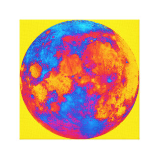 Pop Art Full Moon Canvas Print