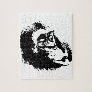 Pop Art Funny Chimpanzee Jigsaw Puzzle