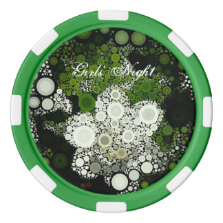 Pop Art Gardenia Girl' Night Poker Chip