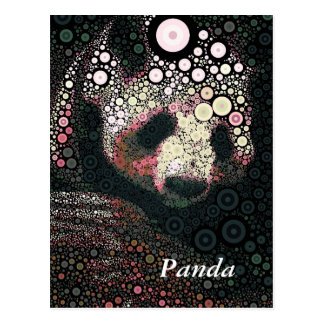 Pop Art Giant Panda Pink Yellow Postcard