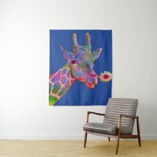 Pop Art Giraffe Tapestry