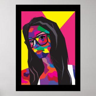pop art girl poster