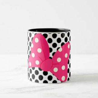 Pop Art Girly Pillow Two-Tone Coffee Mug