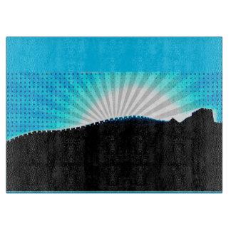 Pop Art Great Wall of China Sunset Cutting Board