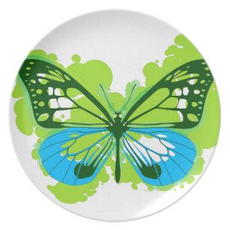 Pop Art Green Butterfly Plate