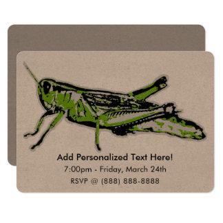 Pop Art Green Grasshopper Card