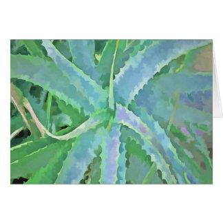 Pop Art Grey Green Aloe Card