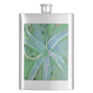 Pop Art Grey Green Aloe Hip Flask