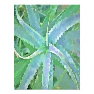 Pop Art Grey Green Aloe Letterhead