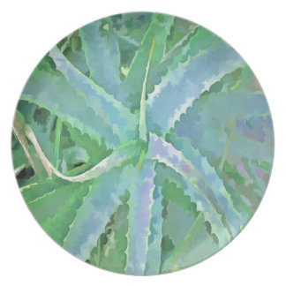 Pop Art Grey Green Aloe Plate