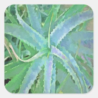 Pop Art Grey Green Aloe Square Sticker