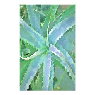Pop Art Grey Green Aloe Stationery