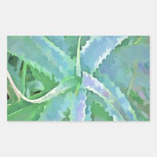 Pop Art Grey Green Aloe Sticker