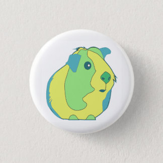 Pop Art Guinea Pig 1 Inch Round Button