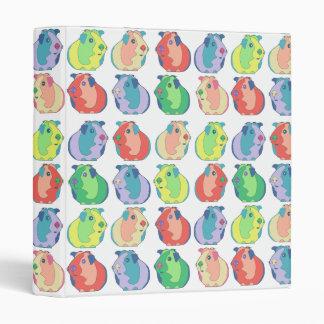 Pop Art Guinea Pig Pattern 3 Ring Binders