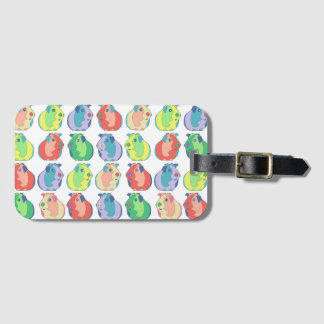Pop Art Guinea Pig Pattern Luggage Tag