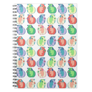 Pop Art Guinea Pig Pattern Notebook