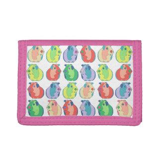 Pop Art Guinea Pig Pattern Tri-fold Wallets