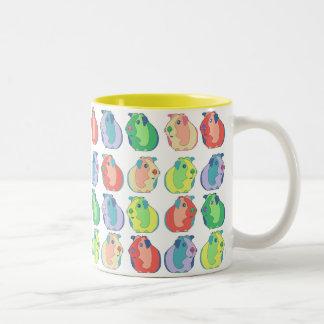 Pop Art Guinea Pig Pattern Two-Tone Coffee Mug