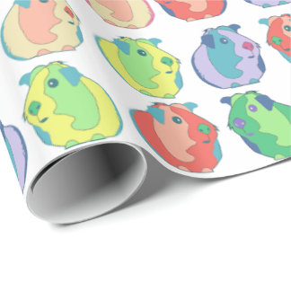 Pop Art Guinea Pig Pattern Wrapping Paper