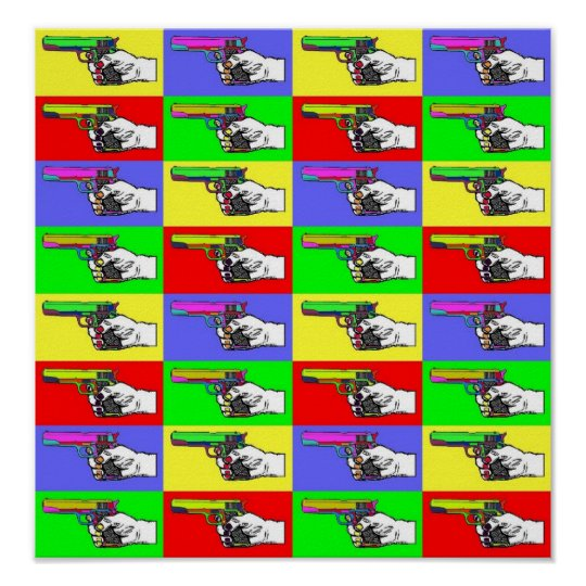 Pop-Art Guns Poster