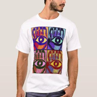 Pop Art Hamsa Evil Eye Protection Shirt by Taurusg