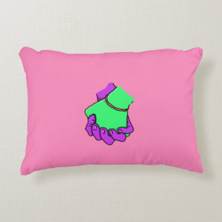Pop Art Hand Holding Pillow