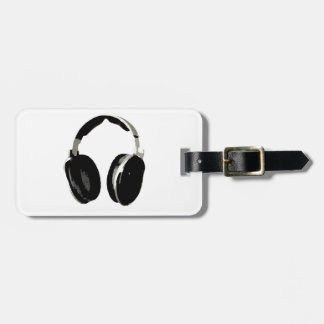 Pop Art Headphone Luggage Tag