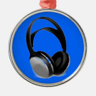 Pop Art Headphone Metal Ornament