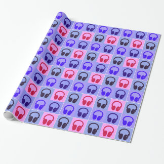 Pop Art Headphones Wrapping Paper