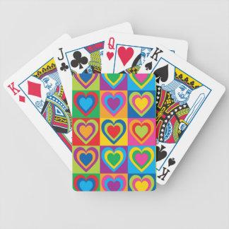 Pop Art Hearts Poker Deck