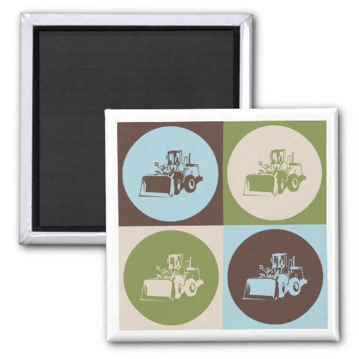 Pop Art Heavy Equipment Refrigerator Magnets