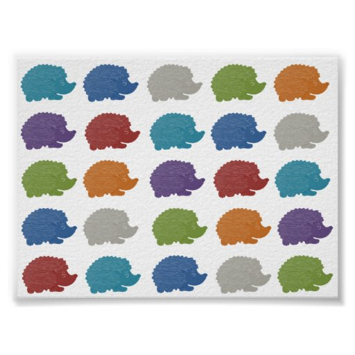 Pop Art Hedgehog Poster