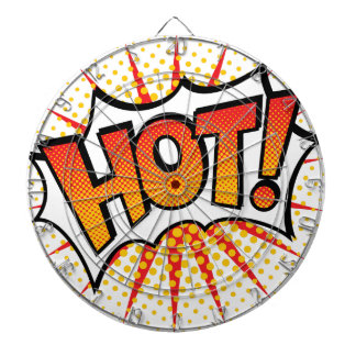 Pop Art HOT! Text Design Dartboard