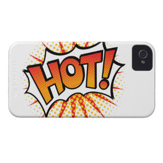 Pop Art HOT! Text Design iPhone 4 Case