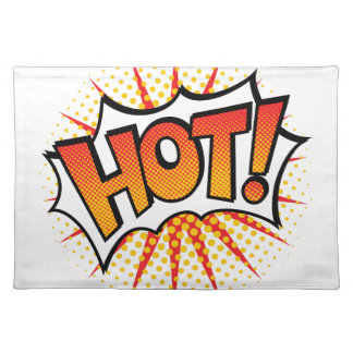 Pop Art HOT! Text Design Placemat