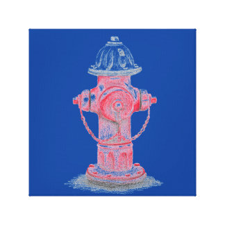 Pop Art Hydrant Canvas Print