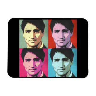 Pop Art Justin Trudeau - Full Size -.png Magnet