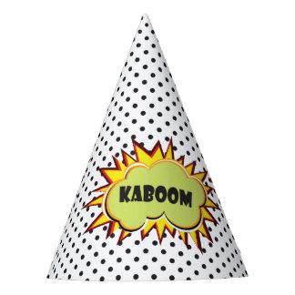 Pop art Kaboom typography retro Party Hat