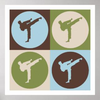 Pop Art Karate Poster