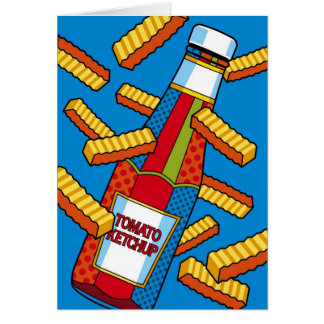 Pop Art Ketchup Thinking of You Card