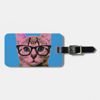 Pop Art Kitten Luggage Tag