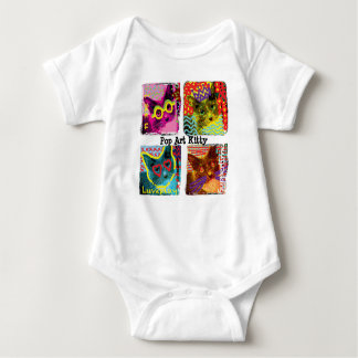 Pop Art Kitty baby romper