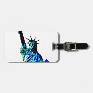 Pop Art Lady Liberty Bag Tag