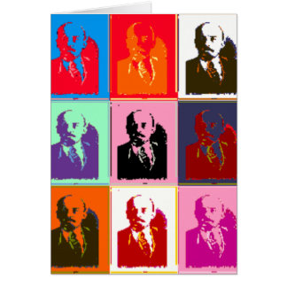 Pop Art Lenin Card