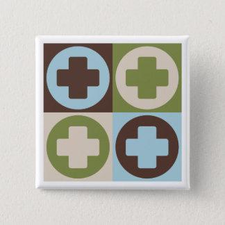 Pop Art Lifeguarding 2 Inch Square Button