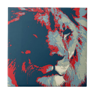 Pop Art Lion Tiles