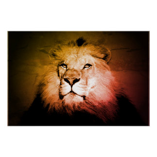 Pop Art Lion - Wild Animal Photography Poster