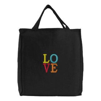 Pop Art LOVE Embroidered Bag