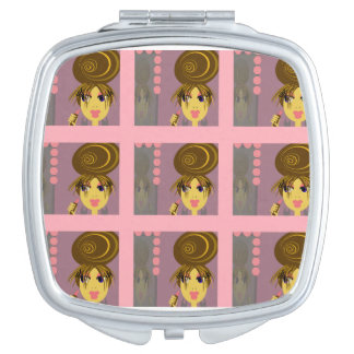 Pop Art Make Up Diva Compact Mirror